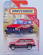 Jeep Cherokee Police. River Valley Fire Rescue. 2019 Matchbox 51/100 FYR17. New!