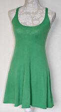 100% CASHMERE XS/8 AUTUMN CASHMERE GREEN GORGEOUS FIT & FLARE LITTLE SOFT DRESS