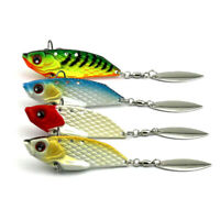 4PCS 6cm/20g Fishing Lures Metal Bait Crankbaits VIB Spinnerbaits Blade Tackle