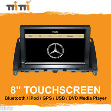 "Mercedes C Class W204 2007-11 - 8"" Touch Car DVD Player GPS Sat Nav iPod Stereo"
