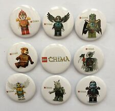 NEW LEGO CHIMA BADGES (9 PACK)~PARTY BAG FILLERS/GIFTS/PRIZES