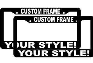 2 CUSTOM PERSONALIZED WHITE LETTERS customized vanity License Plate Frame