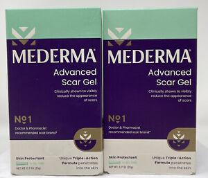 2 Pack, Mederma Advanced Scar Gel 20g, 0.70 oz, EXP 2023+  #8056