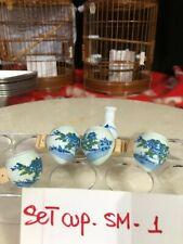 Asian Bamboo Bird Cage Cup Set Sm-1