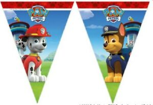 Paw Patrol Happy Birthday Hanging Bunting Banner Party Decoration Partyware