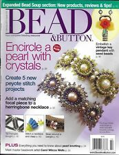 Bead And Button Magazine Pearl With Crystals Bracelet Vintage Key Pendant Bangle
