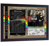 Pink Floyd David Gilmour signed The Dark Side of the Moon autographed Framed