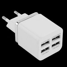 White 4 Ports USB Travel Wall Charger Multi Power Adapter Pack EU Plug XP