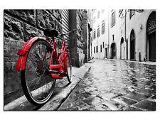 Bild Leinwandbilder Canvas Rotes Fahrrad in Frankreich  A05300