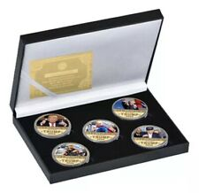 More details for donald trump commemorative coins, usa donald trump gold plated