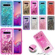 For Samsung Galaxy S10 Liquid Glitter Defender Case Cover Works Otterbox Clip