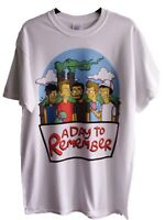 NEW A DAY TO REMEMBER RETRO SIMPSONS SPOOF WHITE TOUR T SHIRT SZ M L XL