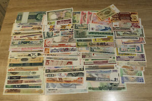 World lot of 77x AUNC/UNC banknotes @ low start
