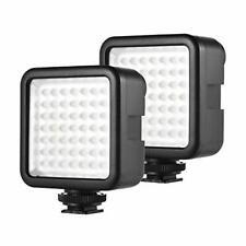 Andoer 2pcs 49 LED Camera Light, Dimmable Camera Fill Light, Mini Video Light