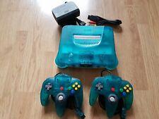 Nintendo N64 Konsole clear blue - white Konsole + 2 Controller ( B-Ware)