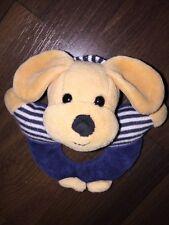 Sterntaler Greifling Plüschtier Stofftier Hund Dog Blau Weiß Gestreift Braun