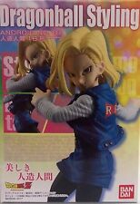 DRAGON BALL STYLING BANDAI ANDROID 18 FIGURE A18 FIGURA NEW NUEVA