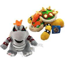 2pcs Super Mario Bros Dry Bowser Bones & King Bowser Koopa Plush Doll Figure Toy