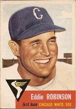 Eddie Robinson 1953 Topps Baseball Card # 73 Chicago White Sox New York Yankees