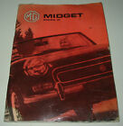 Betriebsanleitung Owner´s Manual MG Midget Mark III / Mark 3 Stand 1973