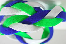 NEW Neon Green Royal Blue White Grippy Bands Headband Hair Sport Soccer Softball