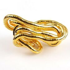 6Pcs Gold Tone Snake Flexible Bendy Necklace Free Ship 90cm 200027