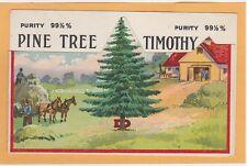 Die-Cut  Advertising Postcard - Pine  Tree - C. Dembufsky Sons Goshen Indiana