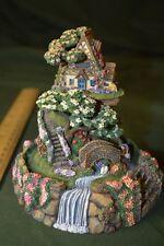 Franklin Mint Figurine Globe # Ed Signed Cobblestone Bridge Cottage #494