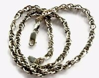 Vintage Sterling Silver 18 Inch DOUBLE LINK Chain Necklace 18.5g - GIFT BOXED