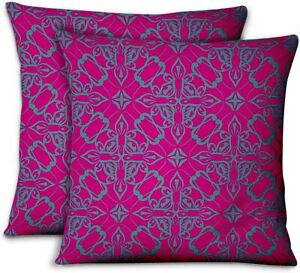 S4Sassy Pink Velvet Floral Home Decor Pillow Case Throw Printed-znS