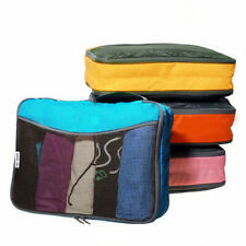 ✅ Packing Cubes Luggage Organiser Baggage Suitcase Travel Storage Bags 4 PCS