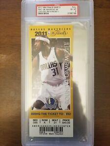 2011 NBA FINALS GAME 3 DALLAS MAVERICKS MIAMI HEAT - COMMEMORATIVE - PSA GRADE 6