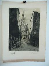 TB Eau Forte : J. FORGET - Paris, St Etienne du Mont / Ste Geneviève, 1920. SUP+