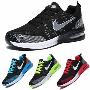 Mens Womens Trainers Running Shoes Air Gym Sports Sneakers Casual Shoes Size UK