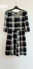 Gorgeous Blue & Grey Check 3/4 Sleeve Dress from Atmosphere - Size 10 - Great!