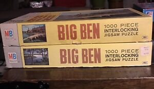 Vintage 1968 MB BIG BEN 1000 Piece Puzzle Lot