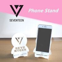 Kpop Seventeen Logo Cartoon Wood Portable Mobile Phone Tablet Stand Holder Gift