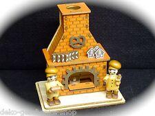 Fumador Figura Humeante CASA ahumeante Panadería horno con 2 figuras 40037