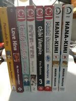 manga comic anime book lot of 7 random assorted graphic novel ships media mail