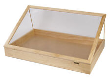 "Wood Display Case Counter View Top Retail Portable Merchandise 24"" x 36"" x 4"""
