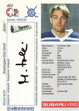 Marcel Kohli Grasshopper-Club Zurich Autograph Auto 93-94 Swiss Hnl #464 *22059
