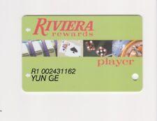 Players Slot Club Rewards Card The Riviera Green W/ slanted #'s Las Vegas Nevada
