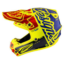 New 2017 Troy Lee Designs SE4 Carbon Factory Flo Yellow Small Mx Helmet TLD