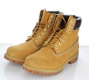 "Z39 $170 Men's Sz 8.5 M Timberland 6"" Premium Nubuck Leather Boot - Wheat"