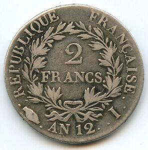 Consulat Bonaparte (1799-1804) 2 Francs AN 12 I Limoges