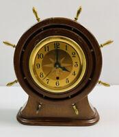Vintage Seth Thomas Wood Nautical Mantle Clock Mid Century Modern MCM PARTS