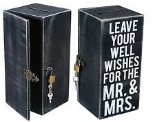 "Wedding Card Wish Box, Wood Well Wishes 8.5"" x 4"" x 4"", Primitives by Kathy"