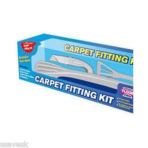 Stikatak Comple Floor Pro Carpet Fitting Kit Stretcher Tucker Knife - Flooring