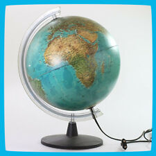 Large World Geological(terrain)/Political Globe 30cm electrical Lamp Lighting