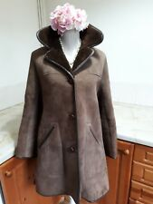 "Richard Draper Sheepskin Coat Size 16, 38"" Bust Made In Glastonbury"